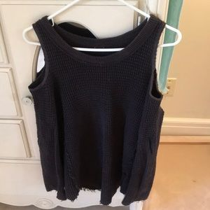 Free People XS cold-shoulder oversized sweater
